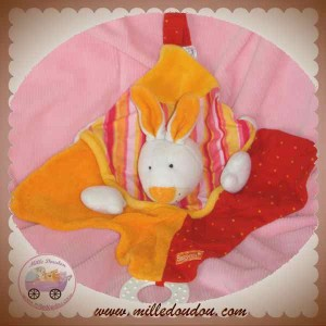 BABYSUN DOUDOU LAPIN PLAT ORANGE ROUGE SOS