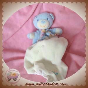 BABYSUN BABY SUN SOS DOUDOU OURS BLEU MOUCHOIR