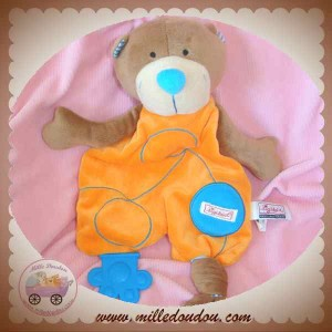 SIGIKID DOUDOU OURS MARRON PLAT ORANGE DENTITION SOS
