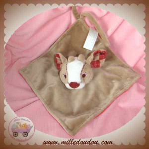 HAPPY HORSE DOUDOU FAON PLAT MARRON ROUGE SOS