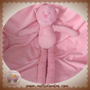 BOUT'CHOU MONOPRIX DOUDOU CHAT OURS ROSE CLAIR VELOURS SOS