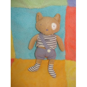 SERGENT MAJOR SOS DOUDOU CHAT SOURIS MAXOU BEIGE SHORT MAUVE