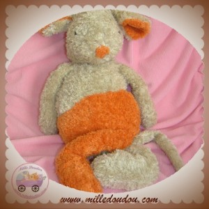 HAPPY HORSE DOUDOU SOURIS BEIGE ORANGE SOS