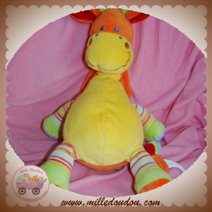MOTS D'ENFANTS SOS DOUDOU GIRAFE JAUNE ORANGE MUSICAL