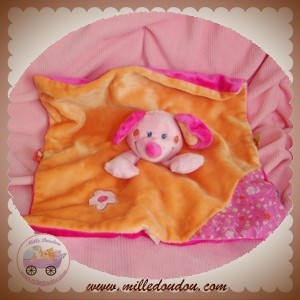 INFLUX DOUDOU SOURIS ROSE PLAT ORANGE ROSE FLEUR SOS