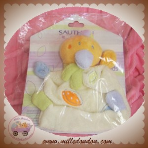 SAUTHON SOS DOUDOU CANARD ORANGE PLAT ECRU COLORS