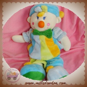 MGM SOS DOUDOU CLOWN GARCON BLEU JAUNE ORANGE