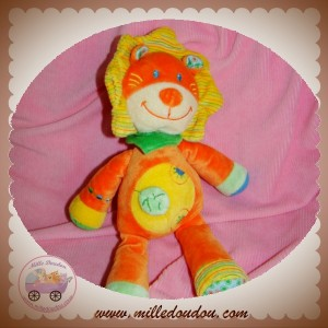NICOTOY DOUDOU LION ORANGE JAUNE VETIR SOS