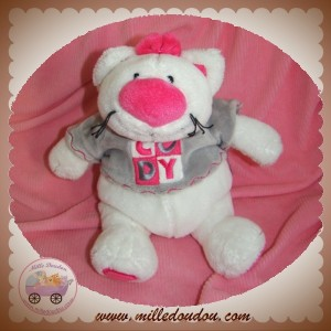 ANNA CLUB PLUSH SOS DOUDOU CHAT BLANC GRIS CODY