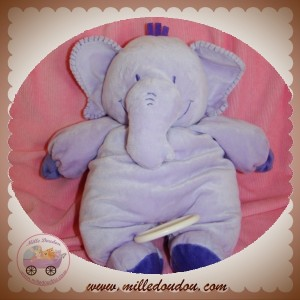 SOFT FRIENDS SOS DOUDOU ELEPHANT MAUVE MUSICAL SOS