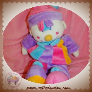 MGM SOS DOUDOU CLOWN FILLE VIOLET ROSE BLEU