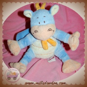 BENGY DOUDOU DRAGON MUSICAL BLEU ECRU ORANGE SOS