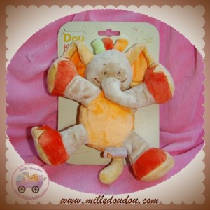DOU KIDOU DOUDOU ELEPHANT ORANGE SAFARI 18 cm SOS