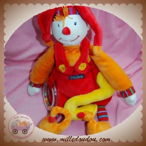 MOULIN ROTY SOS DOUDOU CLOWN DRAGOBERT CAPUCIN ROUGE EVEIL