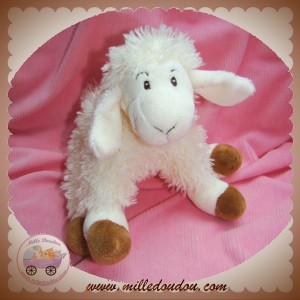 ANNA CLUB PLUSH SOS DOUDOU MOUTON POIL BLANC MARRON
