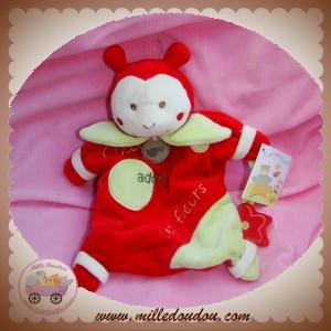 BABYNAT BABY NAT DOUDOU COCCINELLE COCCI MARIONNETTE ROUGE VERT SOS