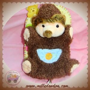 BABYNAT BABY NAT DOUDOU HERISSON MARIONNETTE MARRON SOS
