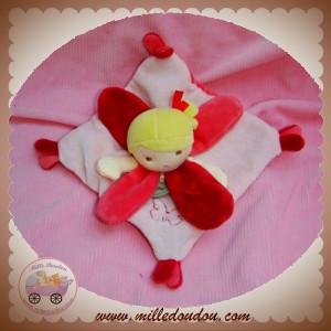 BABYNAT BABY NAT SOS DOUDOU POUPEE FILLE PLATE ROSE PETALES