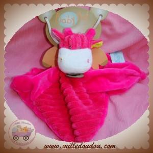 BABYNAT BABY NAT SOS DOUDOU VACHE GRIRAFE PLAT ROSE COTELE