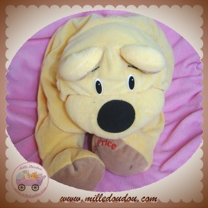 FISHER PRICE SOS DOUDOU CHIEN OURS JAUNE BEIGE