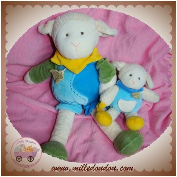 doudou et compagnie simon le petit mouton bleu avec bebe. Black Bedroom Furniture Sets. Home Design Ideas