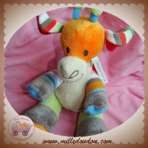 HAPPY HORSE SOS DOUDOU GIRAFE ORANGE LAINE SOS