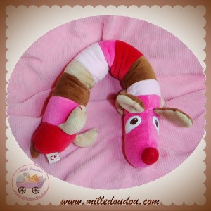 DPAM SOS DOUDOU CHIEN LONG HOCHET ROSE MARRON ROUGE ROND