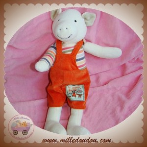 MOULIN ROTY SOS DOUDOU COCHON AVEC SALOPETTE ORANGE