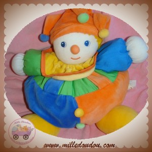 BUATHIER JOSEPH SOS DOUDOU CLOWN BOULE BLEU ORANGE AUCHAN KISSY