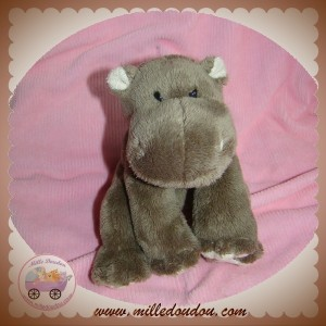 LGRI SOS DOUDOU HIPPOPOTAME MARRON TAUPE SOFT FRIENDS