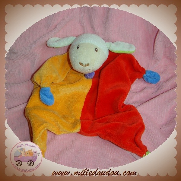 paradise toys doudou mouton plat orange rouge lidl sos. Black Bedroom Furniture Sets. Home Design Ideas
