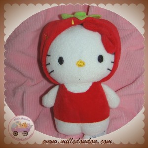 H&M H ET M SOS DOUDOU CHAT HELLO KITTY DEGUISE FRAISE ROUGE