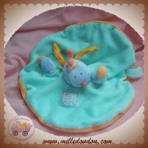 MOULIN ROTY DOUDOU LIBELLULE ZEPHIR TURQUOISE MARIONNETTE FEUILLE