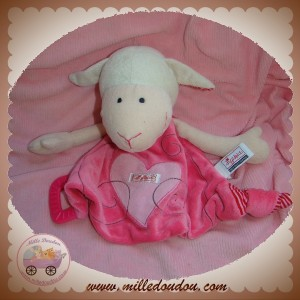 SIGIKID SOS DOUDOU MOUTON PLAT ROSE COEUR DENTITION