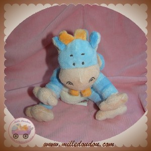 BENGY SOS DOUDOU PETIT DRAGON BLEU ECRU ORANGE