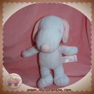 GIPSY PEANUTS SOS DOUDOU CHIEN SNOOPY BLANC ROSE