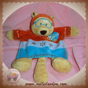CATIMINI SOS DOUDOU OURS CASTOR PLAT JAUNE ORANGE BLEU FLOCON NEIGE