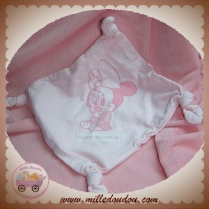 DISNEY SOS DOUDOU MOUCHOIR PLAT ROSE BABY MINNIE SOS