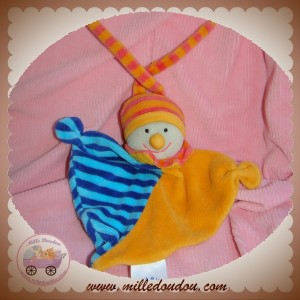 BABY CLUB C&A SOS DOUDOU CLOWN PLAT JAUNE ORANGE RAYE BLEU