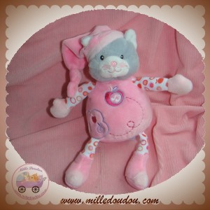 GIPSY SOS DOUDOU CHAT GRIS CORPS ROSE MUSICAL POMME SOS