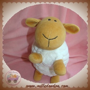 HAPPY HORSE SOS DOUDOU MOUTON MARRON CORPS BLANC