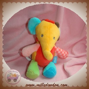BABYSUN BABY SUN SOS DOUDOU ELEPHANT SAFARI MUSICAL ORANGE ROUGE VERT BLEU