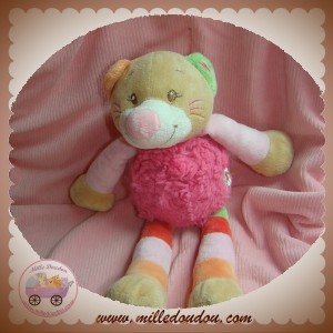 DOU KIDOU SOS DOUDOU CHAT BEIGE CORPS ROSE JAMBES RAYEES