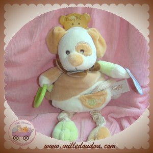 BABYNAT BABY NAT DOUDOU CHIEN CHOCO BEIGE ECRU VERT EVEIL ACTIVITES SOS