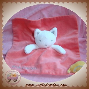 OKAIDI OBAIBI SOS DOUDOU CHAT BLANC PLAT ROSE OISEAU FIRST FRIENDS
