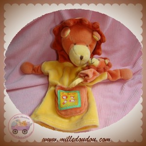 MOULIN ROTY SOS DOUDOU LION ORANGE MARIONNETTE LES LOUSTICS