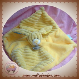 BABYNAT BABY NAT SOS DOUDOU CHIEN PLAT JAUNE VELOURS COTELE