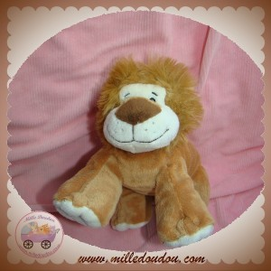 NATURE PLANET SOS  DOUDOU LION ALLONGE MARRON
