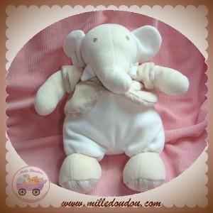 TARTINE ET CHOCOLAT SOS DOUDOU ELEPHANT BLANC GILET BEIGE
