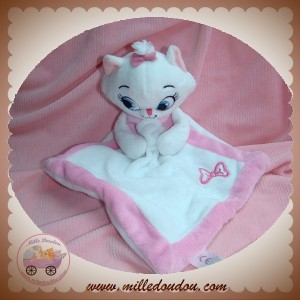 DISNEY SOS DOUDOU CHAT MARIE ARISTOCHAT PLAT MOUCHOIR BLANC ROSE